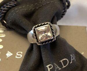 Silpada RARE Elizabeth Cubic Zirconia Sterling Silver Ring Size 7 R0836~MINT!!!