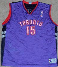 Vince Carter Champion Vintage Toronto Raptors NBA Basketball Jersey Size 48 MINT