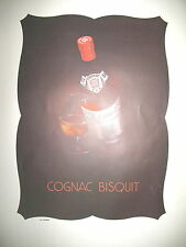 PUBLICITE DE PRESSE BISQUIT COGNAC FRENCH AD 1947