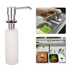 300ML Sink Soap Dispenser Kitchen Stainless Steel Hand Liquid Pump Bottle USA#