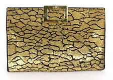ROGER VIVIER Brass Metal Sequin Embellished Satin Buckle XL Clutch Bag
