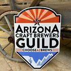 """Arizona Craft Brewers Guild """"Choose AZ Brews"""" Tin Tacker Metal Beer Sign"""