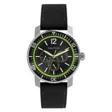 New Nautica Multi-Function Rubber Band Date 24 Hours Men Watch 43mm N15645G $155