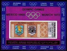 Yemen 1968 ** Bl.84 Olympische Spiele Wappen Olympics