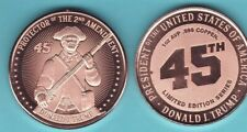 PROTECTOR 2ND AMENDMENT  1 oz. Copper Round  2021 TRUMP 45TH Series  LIMITED