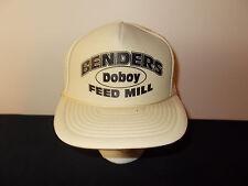 VTG-1980s Benders Doboy Feed Mill farming ag mesh trucker snapback hat sku31
