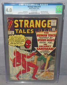STRANGE TALES #115 (Doctor Strange origin, 2nd app Sandman) CGC 4.0 Marvel 1963