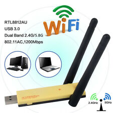 1200Mbps RTL8812AU 802.11AC USB3.0 Dual Band 2.4G&5.8GHz WIFI Adapter Antenna