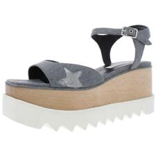 Stella McCartney Womens Stars Mixed Media Dress Platform Sandals Shoes BHFO 5348