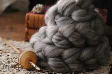 SHETLAND Humbug Undyed Wool Roving Combed Top Spinning or Felting Fiber 4 oz