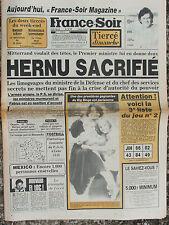 France Soir n°12786 (21 sept 1985) Hernu sacrifié - Tremblement terre Mexico -