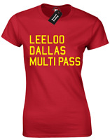 LEELOO DALLAS LADIES T SHIRT SCI-FI FILM ZORG IND. COOL DESIGN