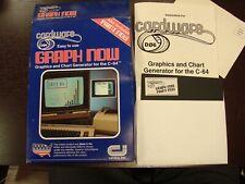 "Vintage CardWare GRAPH NOW C-64 Instruction Manual Booklet & 5.25"" floppy"