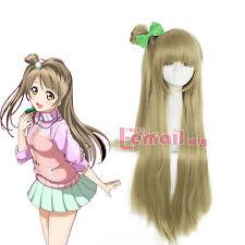 Lovelive Love Live Kotori Minami Long Straight Flaxen Cosplay Wig & Bow Bun Wigs