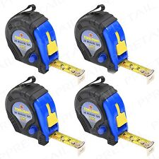 4x 3M Measuring Tape HIGH QUALITY Measure Retractable Small/Pocket Rubber Coated