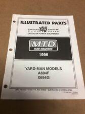MTD/Yard-Man Models A694F And X694G Parts Book