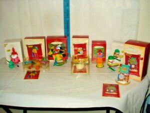Hallmark Crayola Crayon Lot Of 7 Keepsake Ornaments  In Boxes
