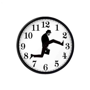 Creative Wall Clock Sweep Seconds Silent Ministry Of Silly Walks Clock Decor