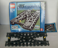Lego City Trains Track Pack Double Crossover Points 7996 100% Boxed Complete
