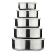 10 Pieces Stainless Steel Kitchen Bowl Set 5 Bowls With 5 Lids Food Storage Home