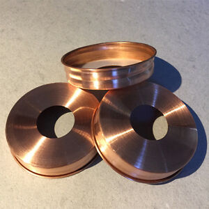 3x Solid Copper Soap Pump Dispenser *Lid Adapters* for Mason Jars