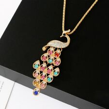 NEW Vintage Peacock Pendant Long Chain Womens Sweater Necklace Jewelry hot sell