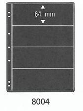 PRINZ PRO-FIL 4 STRIP BLACK STAMP ALBUM STOCK SHEETS Pack of 5 Ref No: 8004