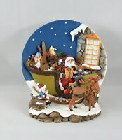Santa Sleigh Toys Reindeer 3D Collector Plate A Christmas Remembered Holiday
