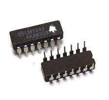 Low Power Operations-Verstärker / Quad-OP, LM124 J, Motorola, Keramik-MIL, NOS