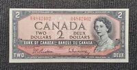 1954 Canada Beattie Rasminsky BC-38b $2.00 Banknote GR 4842402 Uncirculated