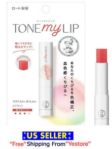 ROHTO Mentholatum Tone My Lip Cream 2.4g Bright Up Red Vitamins Japan Lip Balm