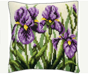 EMBROIDERY COUNTED CROSS STITCH KIT CHARIVNA MIT RT-158 IRISES  15.75X15.75 IN