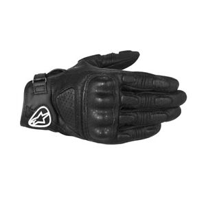 Alpinestars Mustang Waterpro Leather Motorcycle Motorbike Textile Gloves - Black