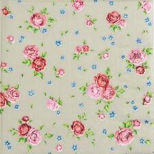 20x Lunch Paper Napkins Serviettes Party, Decoupage- Vintage Roses Taupe