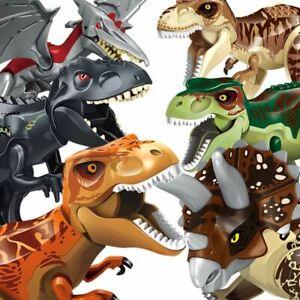 Dinosaur Blocks Dinosaur Figures Brick Dinosaurios T Rex  Assemble Kids Toy _