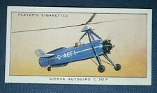 CIERVA AUTOGIRO C30P    Original 1935 Vintage Colour Card