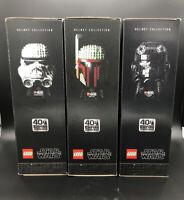LEGO Star Wars Helmet Collection: Boba Fett, Tie Fighter Pilot & Stormtrooper