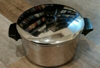 Revere Ware Stainless Steel 98k 4 1/2 Qt Stock Pot & Lid Clinton, IL USA Nice!