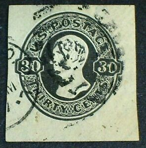 US #U204 30¢ Black on White Used F-VF