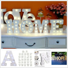 Light Up Letter LED Alphabet Wooden Party Sign Wedding Festival Stand Decoration