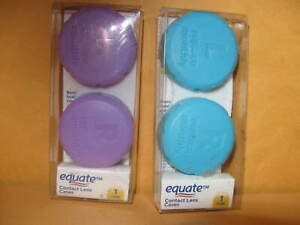 New TWO Equate CONTACT LENS CASES case