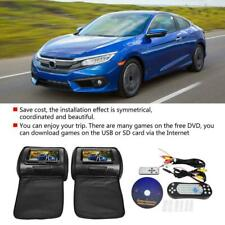 "7"" Car Digital Monitor Kit Video Headrest DVD Player Game VCD USB SD MP3 FM/IR"