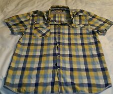 Mens TFG Plaid Shirt Mens L Button Down Creative Garments Short Sleeve