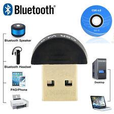 USB 2.0 Bluetooth 4.0 CSR4.0 Adapter Mini Dongle For Win 7 8 10 XP Laptop PC
