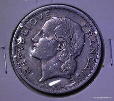 Grande piece FRANCE RF 5 francs 1947 Lavrillier alu ac06
