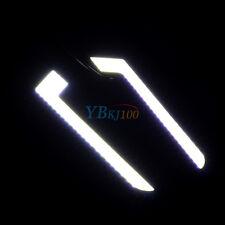 L-Shape Car COB LED Daytime Driving White Running Light DRL Fog Lamp 2pcs