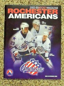 2002-03 Rochester Americans Sean McMorrow/Paul Gaustad/Jason Botterill program