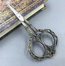 1pcs Bronze Edelstahl European Vintage Blumen Schere nähen Schere DIY Werkzeug
