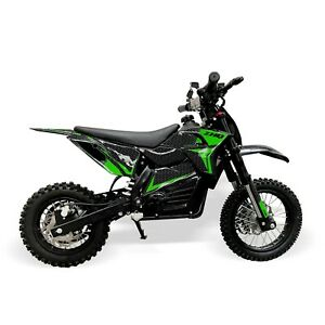 Electric 48V 1200W Kids Dirt Bike – Green