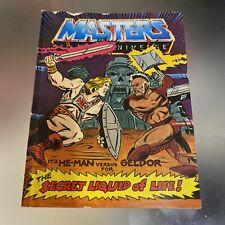 Vintage 1983 MOTU Masters of the Universe Mini Comic It's HE-MAN versus GELDOR